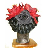Hair Flower Set Red Passion