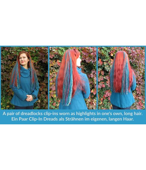 Goth Clip-In Dreads, pink black - limited edition