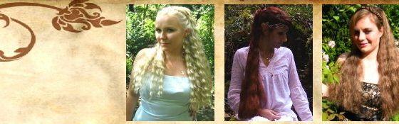 Haarteile, offenes Haar - 55 cm lang