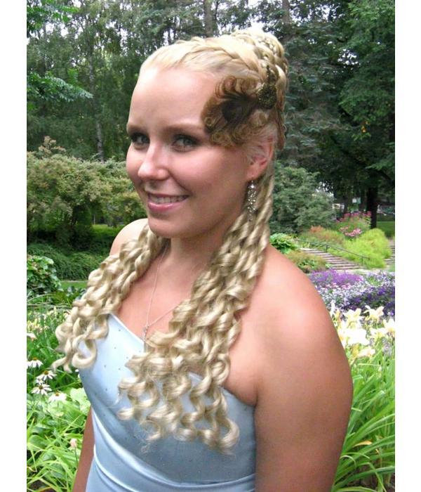 Club curls clip in hair falls Sissi/ Baroque style