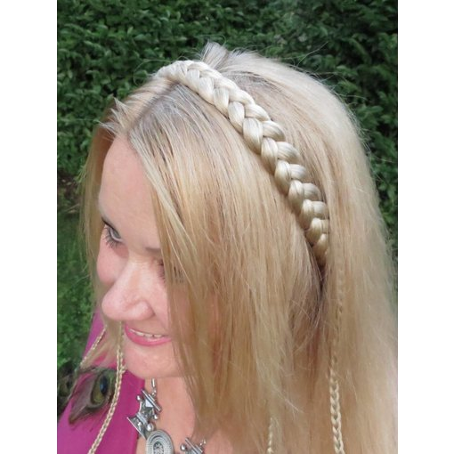 Braid headband classic, medium - fair blonde