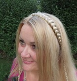 Braid headband classic, medium - fair blonde