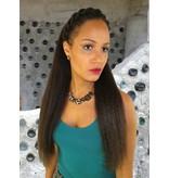 Afro & Fantasy Haarteil, Größe M, gekrepptes Haar