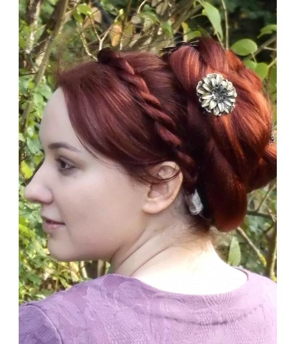 Boho Haarblüte Steampunk Dahlie