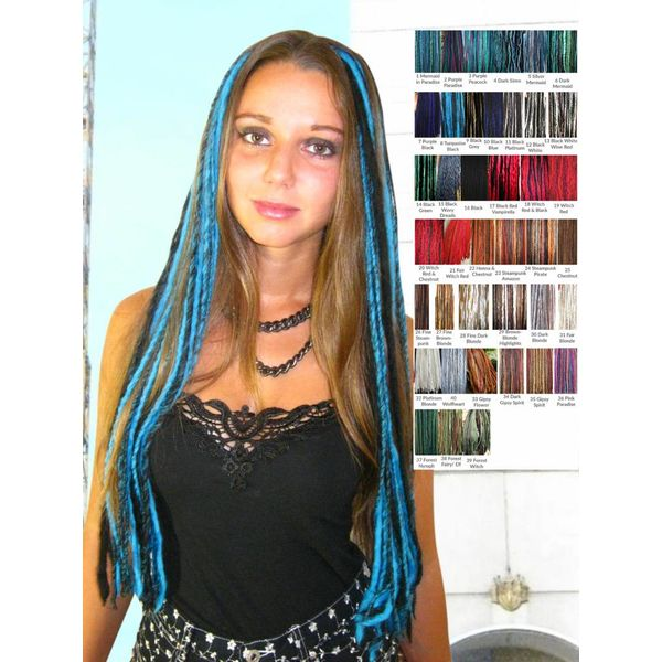 10-20 % OFF Goth Dreads Clip-Ins, many colors!