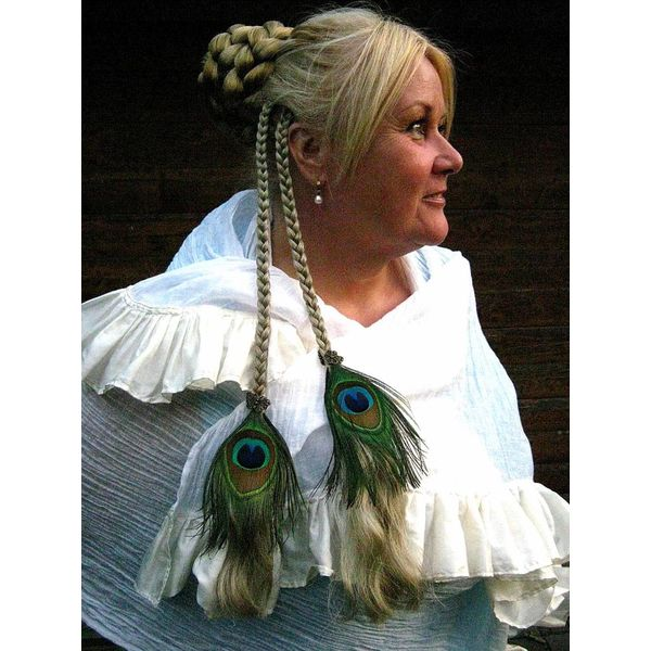 Boho Peacock Hair Piece