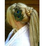 Boho Peacock Feather Hair Piece