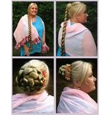 Twist Zopf Größe M extra, gekrepptes Haar