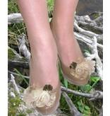 Pfauenfeder Schmetterling Haarschmuck - helle Federn