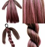 Braided Hair Bun L size, crimped hair