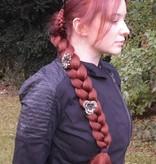 Zopf gedreht Größe M, gekrepptes Haar