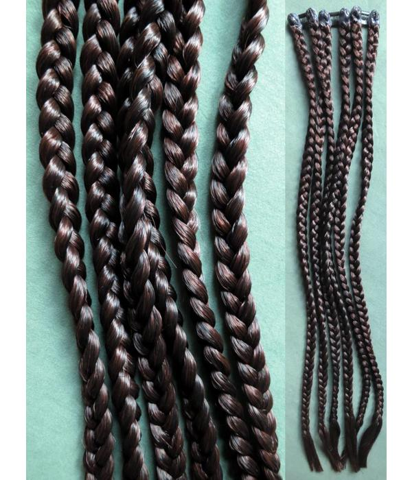 Clip-In Braids, plain & straight - add your own decoration!