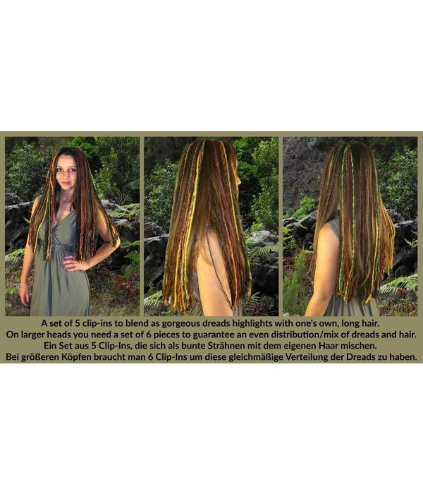 Clip-In Dreads, Traum in Henna Rot