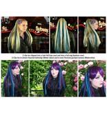 Steampunk Clip-In Dreads weinrot, blond, braun
