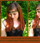 Steampunk Clip-In  Dreads, wine, blonde, brown