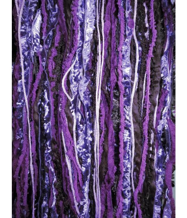 Belly Dance Belt & Hair Purple Passion Peacock