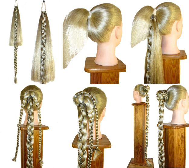 professional braid hair piece attachment
