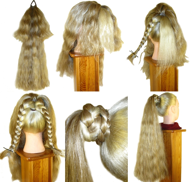 professional attachment shown with wavy size m hair falls
