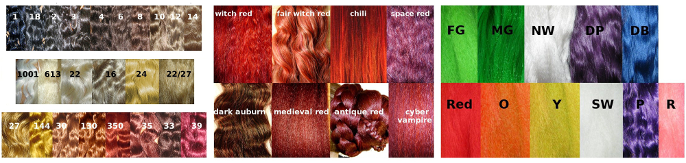 We mix these basic colors to match any hair color!