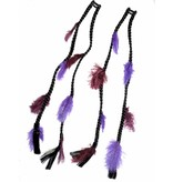 2x Purple Passion Feder Extensions - Farbe 1 schwarz
