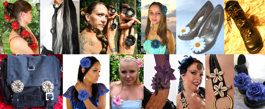 The many ways to wear hair clips by Magic Tribal Hair!