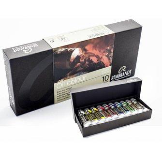 Rembrandt oil colour 10 tubes