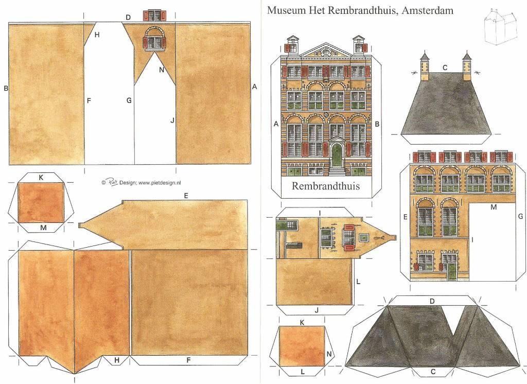 paper model of rembrandt 39 s house webshop museum rembrandthouse. Black Bedroom Furniture Sets. Home Design Ideas