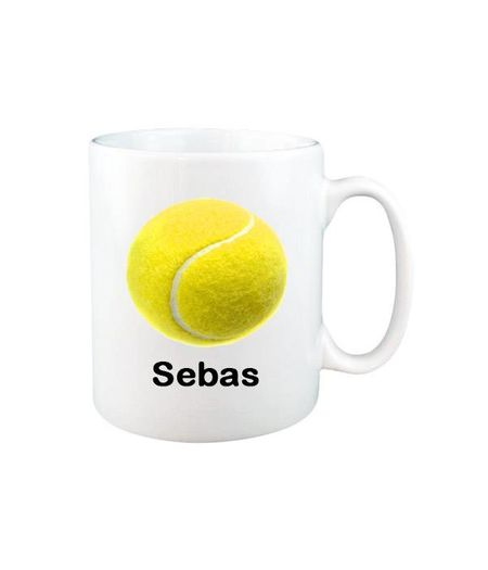 Tennis mok met naam (wit)
