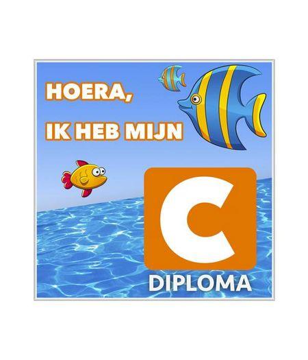 Zwemdiploma C Tegeltje