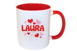 Valentijnsdag cadeau Hartjes mok met naam