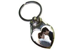 Valentijnsdag cadeau sleutelhanger met foto