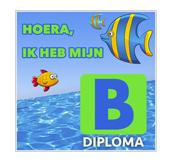 Tegeltje maken zwemdiploma b