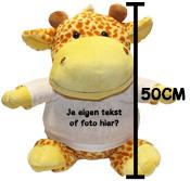 Fotocadeau grote knuffel giraffe met foto
