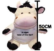 Fotocadeau grote knuffel koe met foto