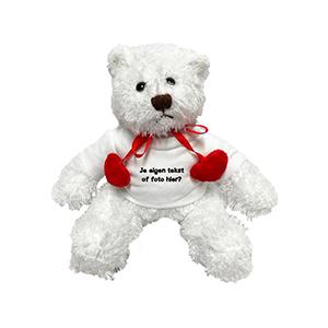 Valentijnsdag knuffel Valentijn met naam, tekst of foto