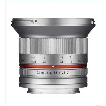 Samyang Samyang objectief 12mm F2.0 NCS CS zilver voor diverse merken