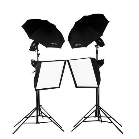 Lencarta Lighting Kit SmartFlash 3 1200Ws With 2 Softboxes & 2 Umbrellas (300/300/300/300)