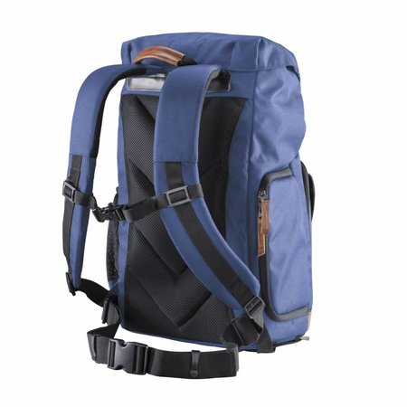 mantona photo backpack Luis blue, retro