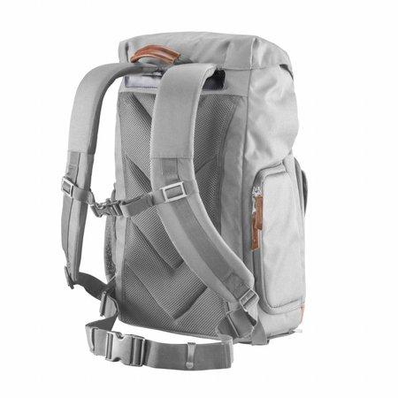 mantona photo backpack Luis grey, retro