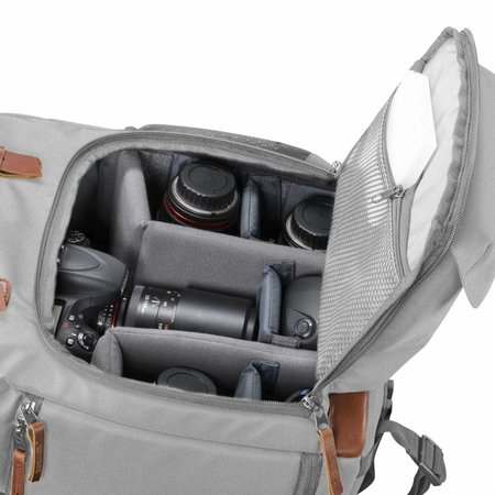 mantona Camera Backpack Luis grey, retro