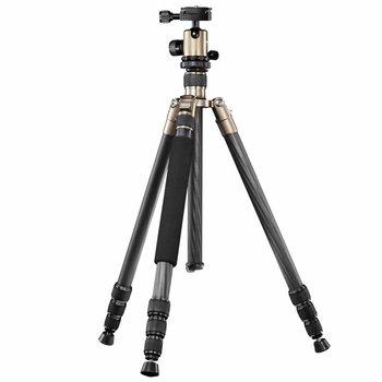 mantona Camera Tripod Titanium Carbon 2 in 1, 159cm
