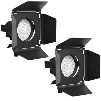 walimex pro LED Spotlights Set of 2 + Barn Doors