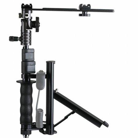walimex Klapp-Blitzschiene mit TELESKOP-Arm