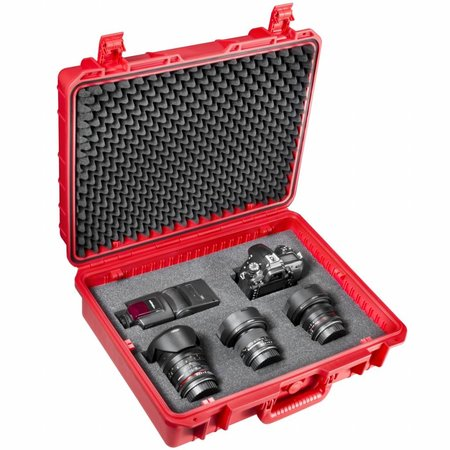 mantona Outdoor Photo & Studio Protective Case L, red