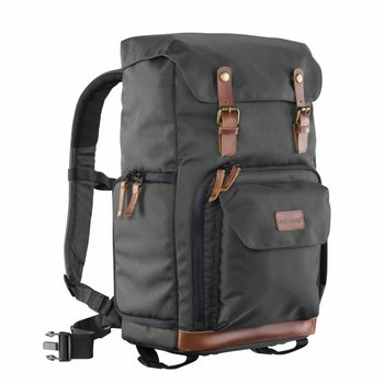 mantona Photo Backpack Luis green, retro