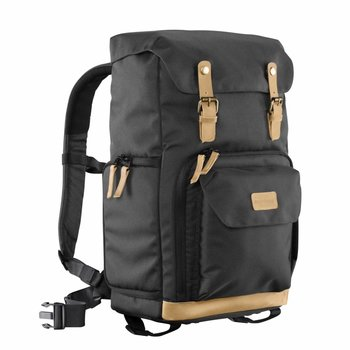 mantona Photo Backpack Luis black, retro