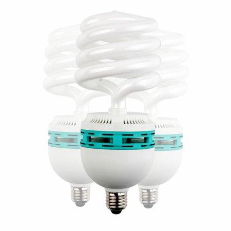 walimex Daylight Spiraalvormige Lamp 125W, 3 stuks