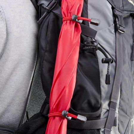 walimex pro Swing handsfree Regenschirm rot mit Tragegestelll