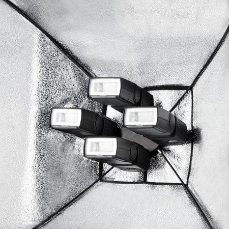 walimex Quad Flitshouder/Softbox Set 4 zilver