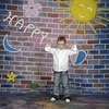walimex pro Motiv-Stoffhintergrund 'Happy', 3x6m